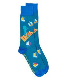 Love this Blue Channel Surfing Crew Socks on #zulily! #zulilyfinds