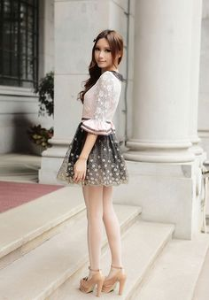 Mango Doll - Pink and Black Embroidered Dress, $53.00 (http://www.mangodoll.com/all-items/pink-and-black-embroidered-dress/)