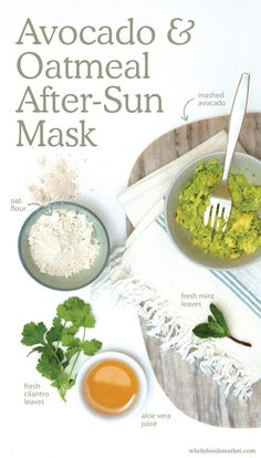 Avocado & Oatmeal After-Sun Mask - Natural Beauty Summer DIY