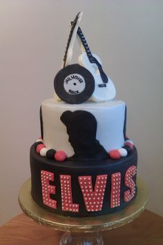 Elvis cake I did inspired by another pintrest users picture.