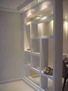 Most Simple Tricks: Room Divider Wall rustic room divider loft.Kallax Room Divider Coffee Tables room divider rope home decor. Living Room Partition, Living Room Divider, Room Partition Designs, Living Room Decor, Room Divider Bookcase, Divider Cabinet, Bookshelves, Wood Partition, Partition Ideas