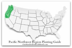 Pacific Northwest Region Planting Guide. A simple monthly list of what you can direct sow or start indoors.