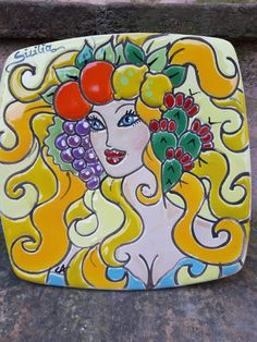 Donna siciliana Sole CerAmica dipinta a mano cuerda seca Fb CerAmica Carola Art, Art Background, Kunst, Performing Arts