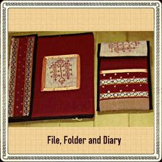 TITLE : Maroon. MEDIUM :Cloth Art. #MeghnaCreations #creations #filefolderdiary #maroon #clothart #brocade #sequence #borders #piping #smartindian #wear #dualsides #gifting #mumbai #pintrest