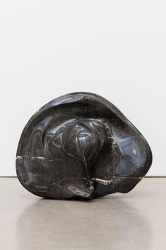 // Alma Allen, Not Yet Titled, 2016, found black marble