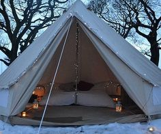 Cream colored 13 foot bell tent yurt teepee  soulpad, boutique camping, or etsy stouttent