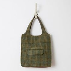 Terrain Well-Suited Tote, Green #shopterrain / Made from deconstructed sports coats