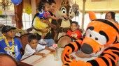 Kids meet Disney Characters Chip and Tigger during the Plaza Inn Minnie & Friends - Breakfast in the Park.