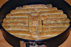 Tort cu piscoturi si ness - CAIETUL CU RETETE Cornbread, French Toast, Deserts, Sweets, Breakfast, Ethnic Recipes, Food, Fruit, Pies
