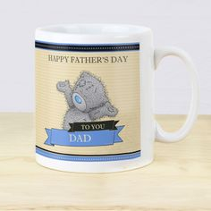 Me to You Mug For Him This Me to You personalised mug is a cute gift for him on any occasion.   The mug can be personalised to the front with a header up to 10 characters plus 10 characters within each banner below the bear motif.  The reverse of the mug can be personalised with message over 4 lines up to 15 characters per line.  All personalisation to the front of the mug will appear in UPPERCASE. Personalisation to the reverse will appear as entered and is case sensitive. Please refrain…