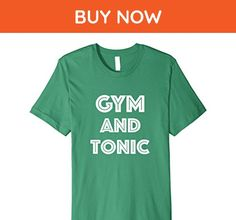 Mens Gym And Tonic - Funny Workout Quote T-Shirt Large Kelly Green - Workout shirts (*Amazon Partner-Link)