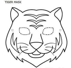 Tiger Mask Coloring Pages Printable Coloring Pages Tiger Mask Coloring Page In Coloring Style - Kids Drawing and Coloring Pages Animal Mask Templates, Printable Animal Masks, Animal Masks For Kids, Mask For Kids, Animal Cutouts, Tiger Mask, Carnival Masks, Felt Patterns, Jungle Theme