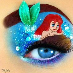 Ariel Eye Art #makeup #eyeart #eyemakeup