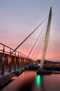 Bridge to the SA1 development at Swansea marina.© Crown copyright (2012) Visit Wales