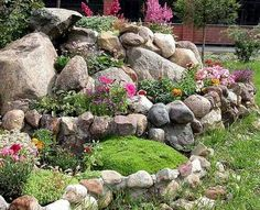 rock garden ideas for small gardens rocks and flowers landscaping rock garden design tips 15 rocks garden landscape ideas Small Backyard Landscaping, Landscaping With Rocks, Landscaping Tips, Backyard Ideas, Landscaping Software, Decorative Rock Landscaping, Dog Backyard, Desert Backyard, Hydrangea Landscaping