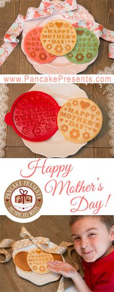 Introducing our Mother's Day Pancake Mold! Limited quantities available! A special breakfast idea that mom will never forget! www.PancakePresents.com