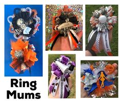 Homecoming ring mum. homecoming finger mum. mini homecoming | Etsy Homecoming Mums, Homecoming Corsage, Homecoming Garter, Mums The Word, Cheer Gifts, Streamers, All Pictures, Picture Show, Pinwheels