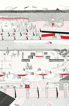 Rem Koolhaas, Masterplan for the Parc de la Villette in Paris, 1982