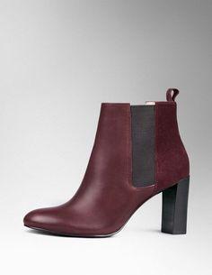 Weinrote Chelsea Boots - perfekt für den Herbst!
