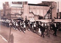 Waterloo Iowa Parade on Fourth street bridge by elephantwalk, via Flickr