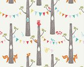SALE Birch Fabrics WOODLAND PARTY from the Circa 52 collection by Monaluna 100% organic cotton