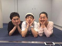 With Kanako Murakami and Nobunari Oda(JAPAN)