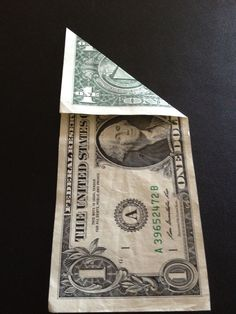 How to fold a $1 dollar bill - B+C Guides Fold Dollar Bill, Dollar Bill Origami, Money Origami, Three Fold, Legal Tender, Thing 1, Oragami, One Dollar, Two By Two