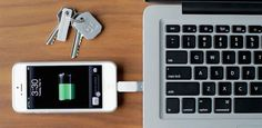 Kii compact charger: So teeny, it fits right on your keychain. Love!