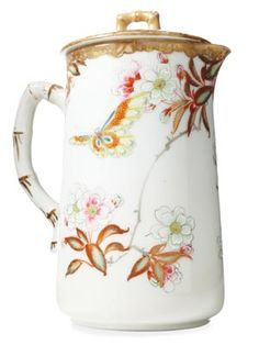 Early 20th-Century Porcelain Cocoa Pot