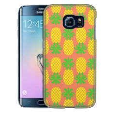 Samsung Galaxy S6 Edge Up and Down Pineapple Pattern Slim Case