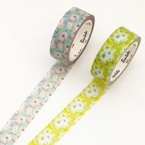Lovely+floral+washi+tapes  Quantity:+1+pc Size:+15+mm(W)+x+7+m(L)