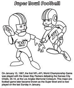 Super Bowl Trophy Coloring Pages Free School Fun Sunday