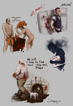 Outlast doodles 2 by morgenty.deviantart.com on @DeviantArt