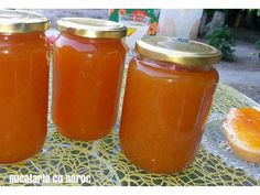 #Gem de piersici - Bucataria cu noroc Noroc, Salsa, Jar, Salsa Music, Jars, Glass