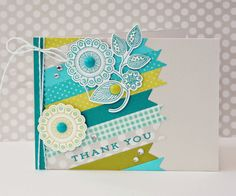 Doodlie-Do Thank You card by Erin Taylor (Retro Sketches #130)