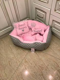 Dog Lover Gifts, Dog Gifts, Pink Dog Beds, Princess Dog Bed, Luxury Pet Beds, Personalized Dog Beds, Dog Suit, Designer Dog Beds, Puppy Beds