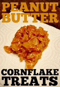 This Peanut Butter Corn Flake Treats is perfect for a yummy and quick snack. Super simple with only 4 ingredients.