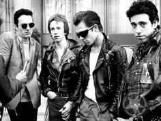 80's punk fashion, guy 2nd from left reminds me of James Dean in Rebel.