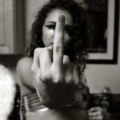 Middle finger.