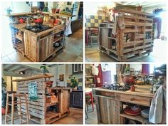 Beautiful kitchen island completely equipped for cooking :) More, it's a complete mobile kitchen on wheels, with it, you can cook nearly everywhere! Entire