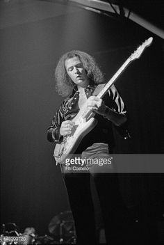 Guitarist Ritchie Blackmore from Rainbow performs live on stage at the Calderone Concert Hall in Long Island New York on 14th November 1975
