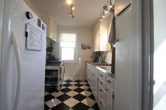Reader Submission: 1940s DIY Kitchen Renovation | DIY Del Ray alternating granite & marbe tile floor