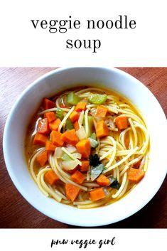 veggie noodle soup | vegan recipes | vegan dinner | vegan | vegan soup | vegan soup recipes | vegan soup easy | vegan soup crockpot | vegan soups | vegan soups and stews | vegan soups recipes | vegan soups easy Egg Free Recipes, Veggie Recipes, Fall Recipes, Veggie Noodle Soup, Veggie Noodles, Easy Vegan Soup, Vegan Soups, Standard Recipe, Chicken Livers