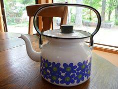 Finel Enamel Tea Kettle Made in Finland