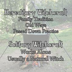Hereditary Witchcraft - Type of non-Wiccan Witchcraft