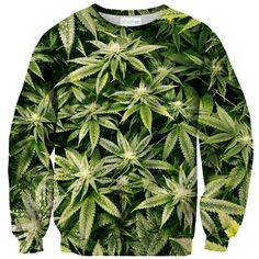 Kush Leaves Sweater from Shelfies. Shop more products from Shelfies on Wanelo. Dope Fashion, High Fashion, Stoner Style, Puff And Pass, Drip Dry, Green Sweater, Swagg, Stretch Fabric, My Style