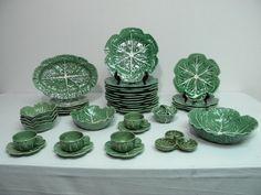"""BORDALLO PINHEIRO """"CABBAGE"""" pattern plates."""