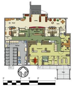 Veterinary floor plan: Pet Paradise Animal Hospital Source by