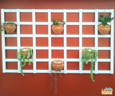 Para quem gosta de jardins verticais fica aqui a nossa dica: aposte em plantas pendentes para dar um efeito mais bonito, como a dedo-de-moça.