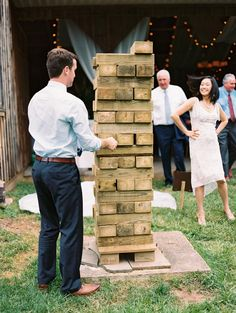 Jumbo jenga wedding game